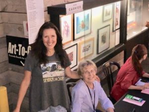 Artists Fund at the Festival of Arts with Cynthia Ayers in Laguna Beach CA
